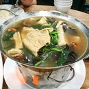 Dried Beancurd Fungus Spinach Soup