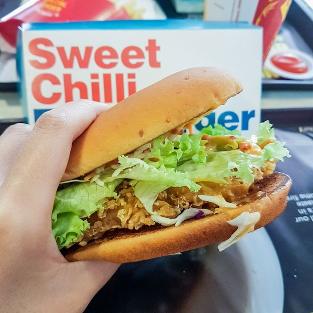 Sweet Chilli Fish Burger