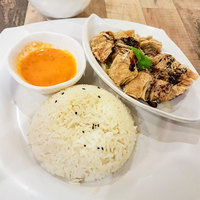 Soya Veg Chicken Rice