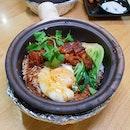 Lor Bak and Onsen Egg Claypot Rice
