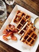 Bacon Cheddar Waffle
