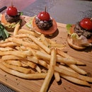 Little wagyu sliders and fries.
