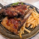 More from Gochi-so Shokudo -- this time, ribs and fries from their grills!