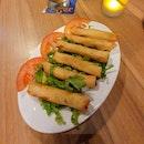 Rakakat Bel Kenneth (Feta spring rolls) ($10)
