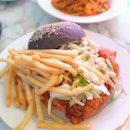 Korean Spicy Chicken Charcoal Burger ($13.90)