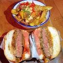 Bun DMC ($18) 🍔 & Dirty miso fries ($9) 🍟