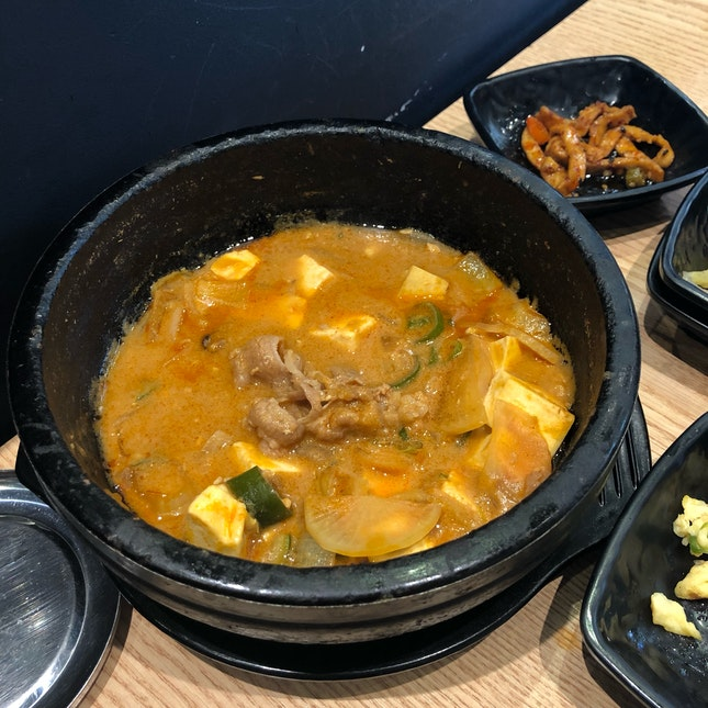 Soy Bean Paste Stew with Beef ($12.90)
