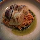 Meatball Spaghettini With Torched Mozzarella ($24)