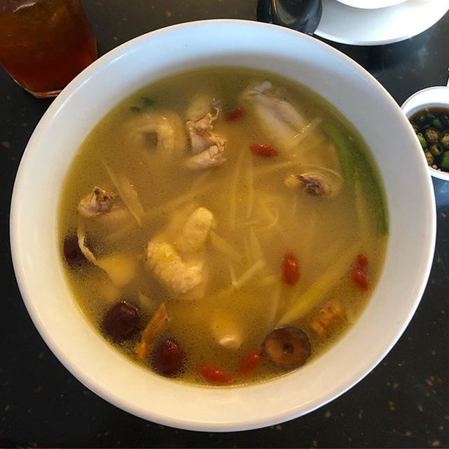 Chicken and Chinese wine with some herbs makes a really good nourishing soup.