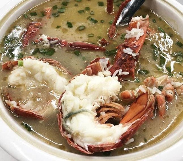 Lobster porridge.
