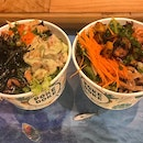 Our healthy Poke Bowls from @pokedoke.sg @milleniawalk #yummy food and nice deco!