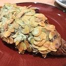 Green tea almond croissant and Mocha 😍 @tiongbahrubakery @funansg .