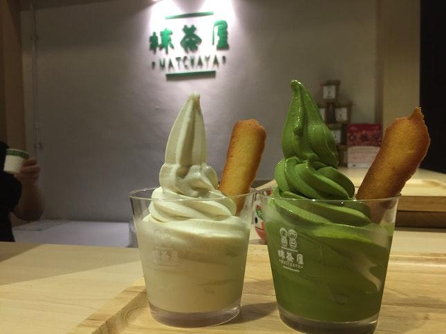 Matcha + White Miso Soft-Serve