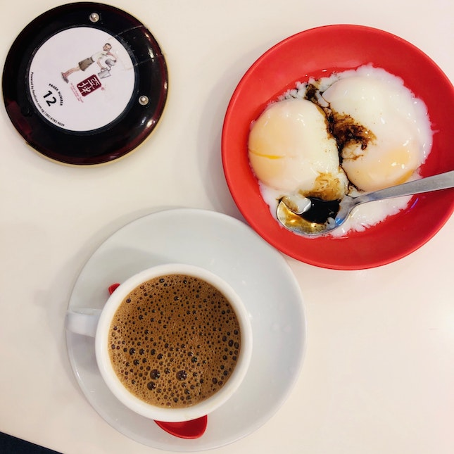 Kopi C + Soft Boiled Eggs