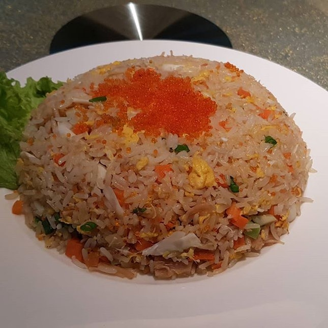 Crab fried rice at Golden Peony  Fried rice is very common in Chinese restaurant.