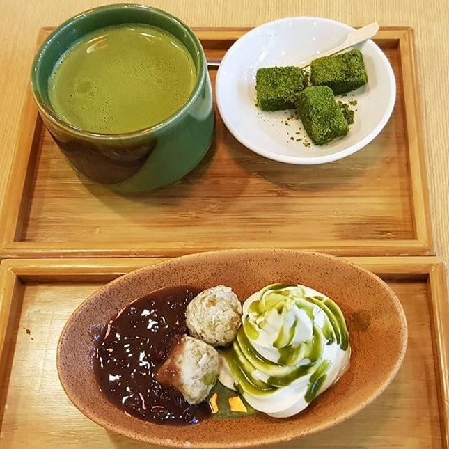 Desserts at MOF  We like the desserts and the macha green tea here.