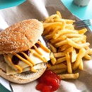 Double Cheese Burger with Plain Fries (S$7)