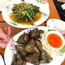 Pandan Chicken And Sambal Kang Kong