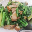Fried Kai Lan with Roasted Pork