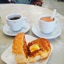 That traditional Hainanese Kaya Butter Toast from @yykafeidian 😋.