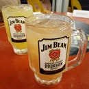 Jim Beam With Soda And Fruit.