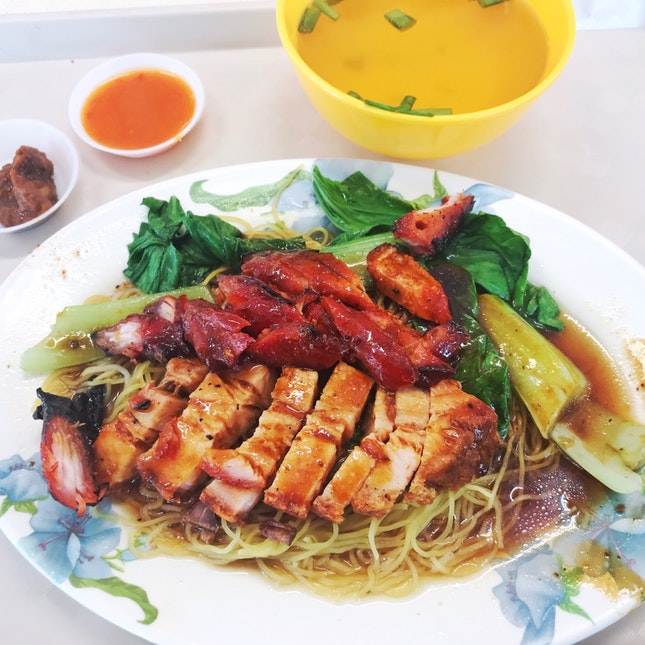 Roasted Meat And Char Siew Noodle