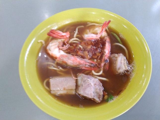 Pork Rib Prawn Noodle