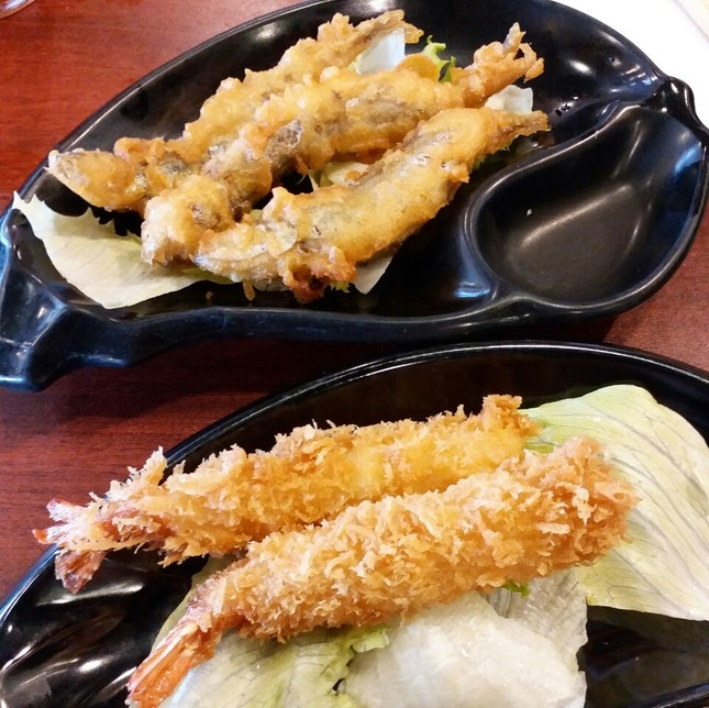 Shishamo and Fried Ebi