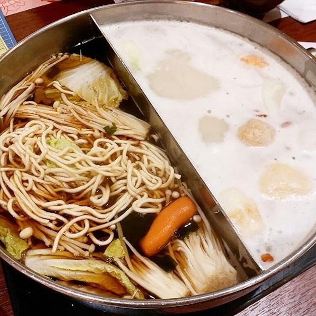Shabu shabu hotpot buffet at Sukiya the other day!