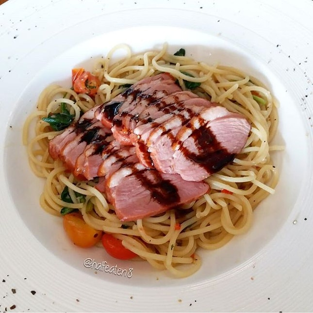 Smoked Duck Spaghetti from D'Bar!