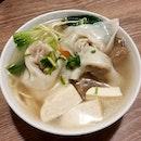 Dumpling Noodles in Soup from Genesis Vegan Restaurant!