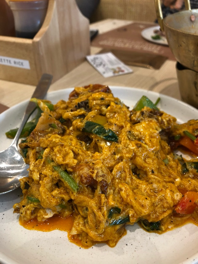 Soft shell crab yellow curry