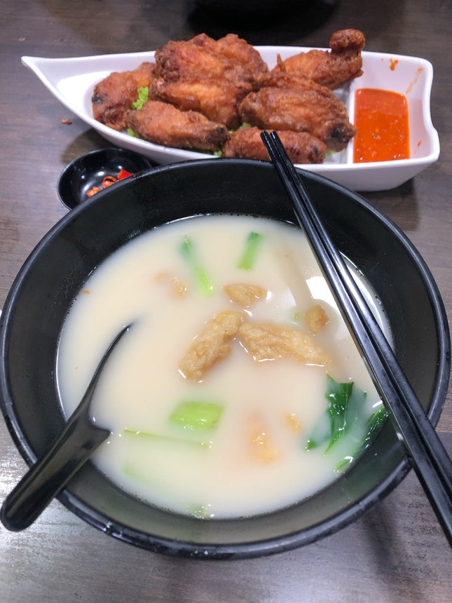 Fried fish soup