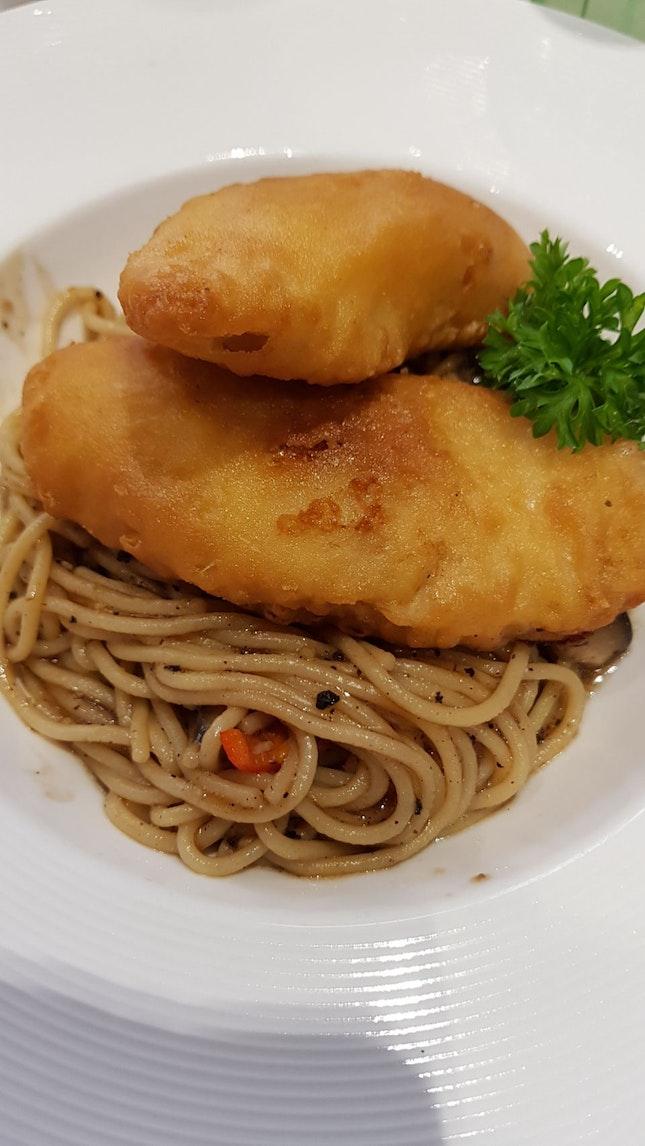 Oriental Fish Pasta