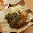 Don't belittle the green chilli on this Bebek (duck); it is super spicy...yet super delicious.