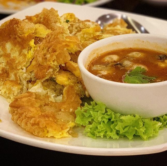 Teochew Crispy Oyster Omelette ($15)