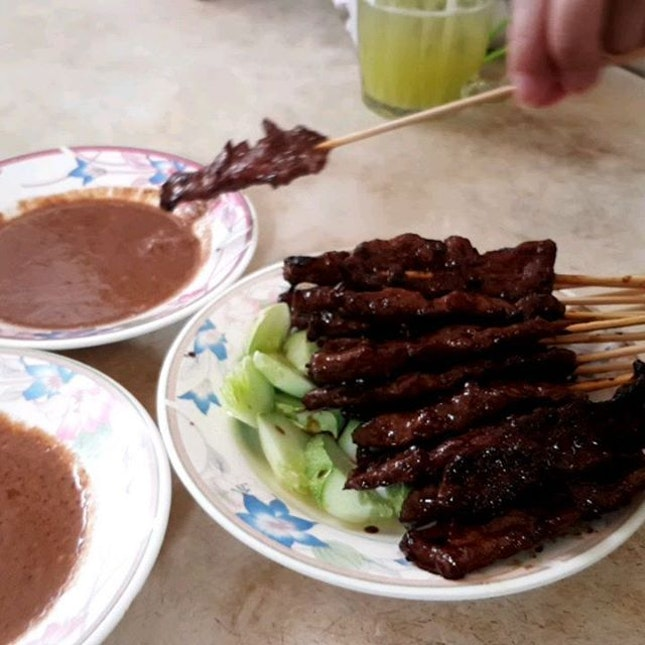 Soft and Tasty Pork Satay at Carpenter Street.