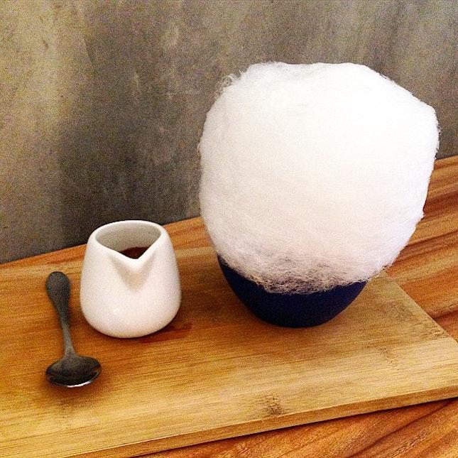 Coconut Gula Melaka Cotton Candy Affogato @ Whimsical Gelateria Cafe  Warning!