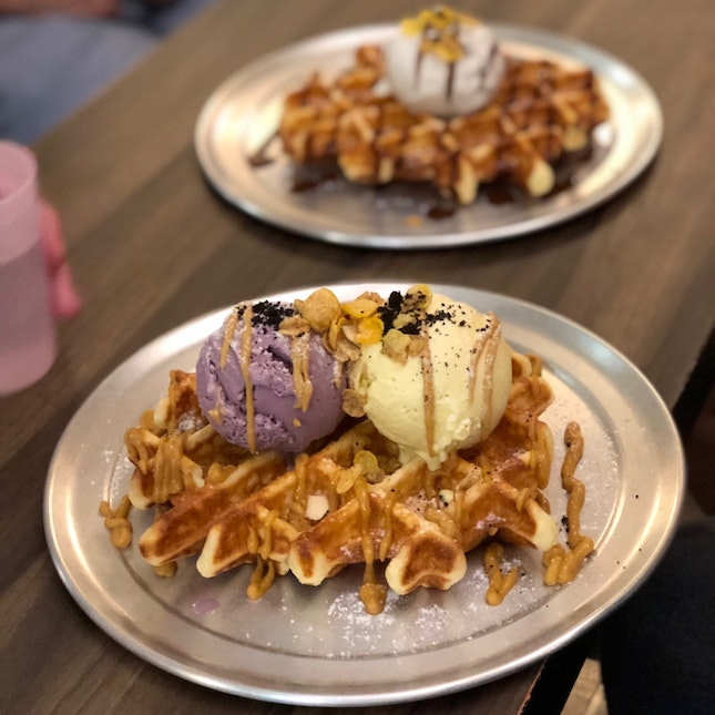 Favourite Local Flavoured Waffles With Ice Cream
