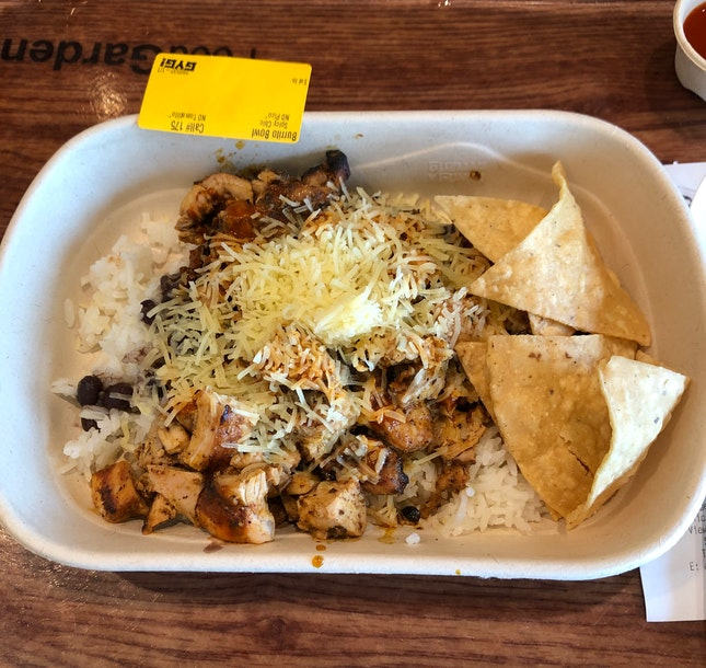 Burrito Bowl With Grilled Spicy Chicken ($10.90)