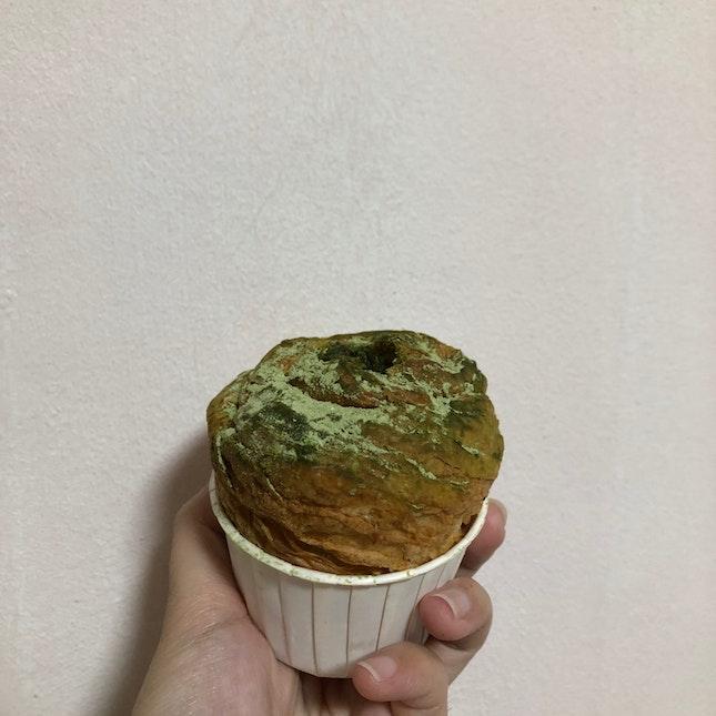 Matcha Cruffin ($5)