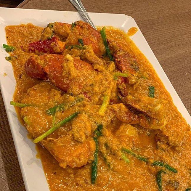 """This delightful mess of a dish, is actually """"curry crab"""" from Somboon Seafood."""