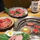 Japanese BBQ meats and good Sake.