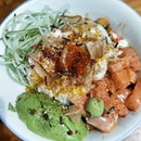 Both salmon bowl and signature coffee with coconut oil were delish 😋 #burpple #freetherobot #freetherobotsg #telokayer #sgeats #sgfoodie #sgfoodblogger #agfood