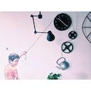 Renovation in a cafe #clock #mural #art #coffee #vsco #vscocam