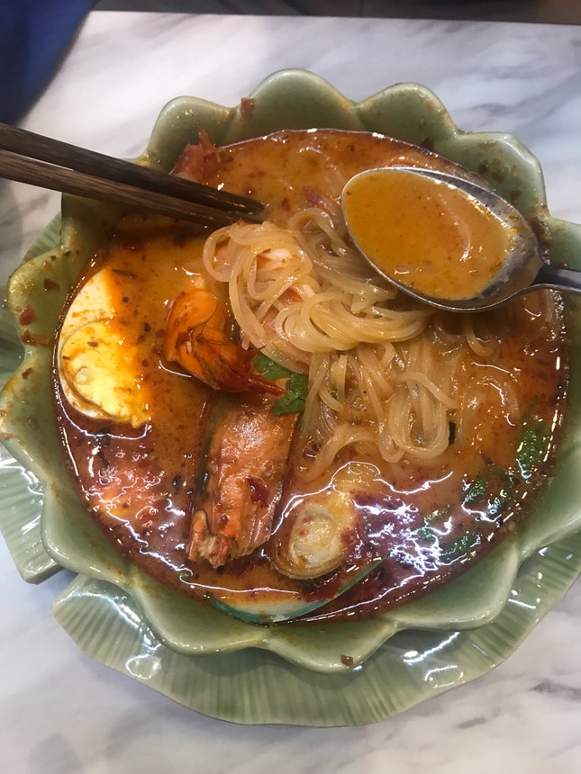 Tom Yam River Prawn Noodles $10.50