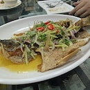 Deep Fried Fish With Spicy Garlic Sauce ($30)