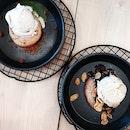 Top-Left: Matcha Lava Cookie Set ($8.50) // Bottom-Right: Chocolate Lava Cookie Set ($8.50)