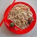 Fried Baby Squid Prawn Mee