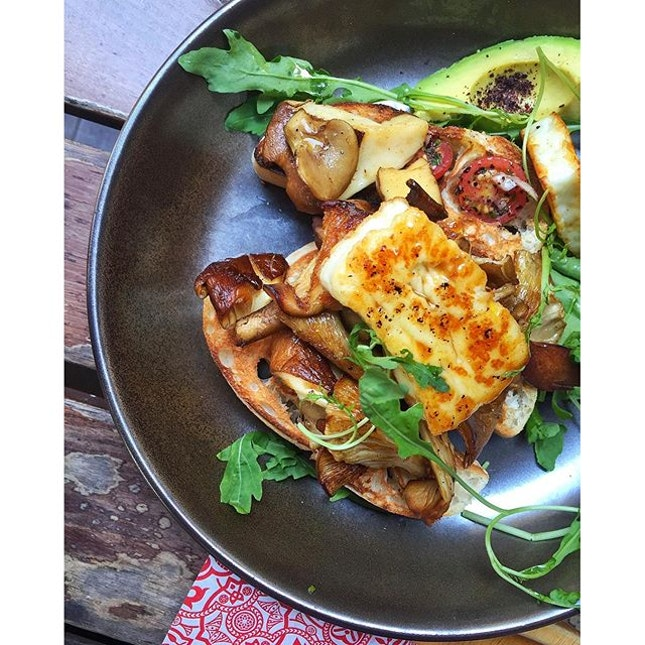 Haloumi & Mushrooms ($22).